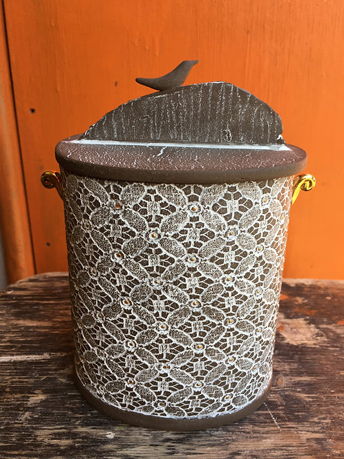Frances Spice | Slab built Decorative Lidded Pot