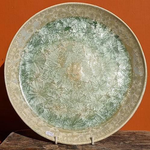Crystalline Glaze Green/Yellow Plate