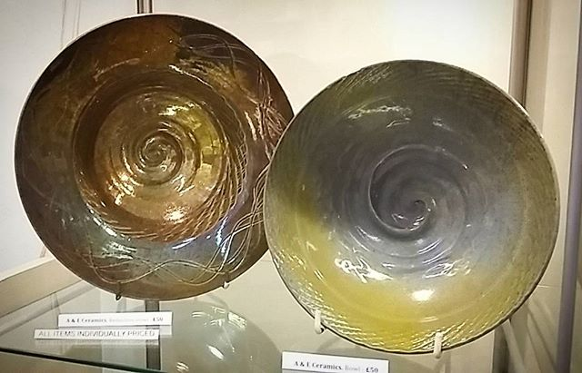 Spiral bowls by _aandeceramics in various glazes incuding a bronze reduction glaze. Perfect gift for