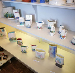 New work delivered by Jane Gibson Ceramics. She is in the shop today, if you'd like to talk to the a
