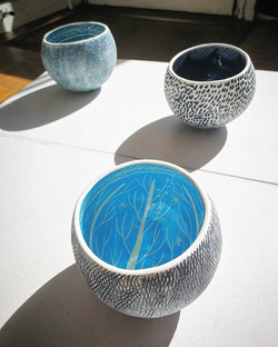 Glorious coil pots from new Guest Potter _kathcooperceramics