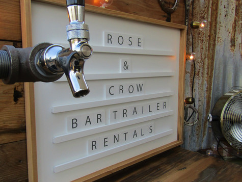 Add your bar menu or anything you want to the back bar board!