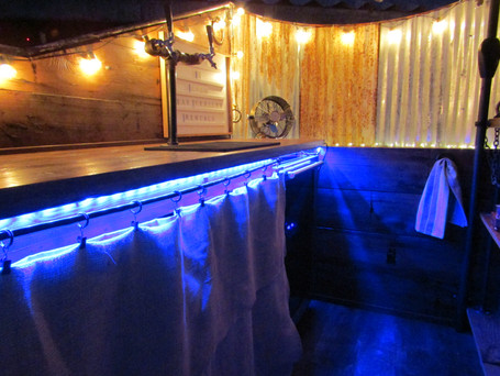 Remote controlled bar lights, lots of color options!