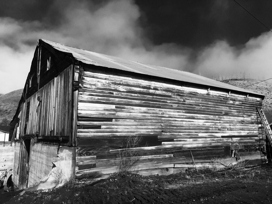 Pieces of this old barn are worked into all of our trailers! Andy took boards one by one off of this barn to save it.