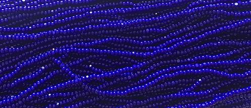 11SB176-CR: CZECH SEED BEAD TRUE CUT OPAQUE ROYAL BLUE 11/0
