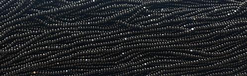 11SB109-CR: CZECH SEED BEAD TRUE CUT OPAQUE BLACK 11/0