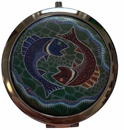 Fish Compact Mirror - Leah Yellowbird