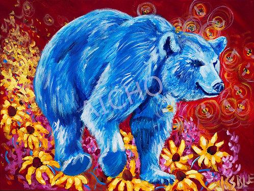 """Makwa """"Bear"""" - Karen Savage Blue"""