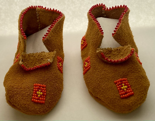 Orange Baby Moccasins