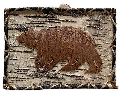 Bear Birchbark Painting