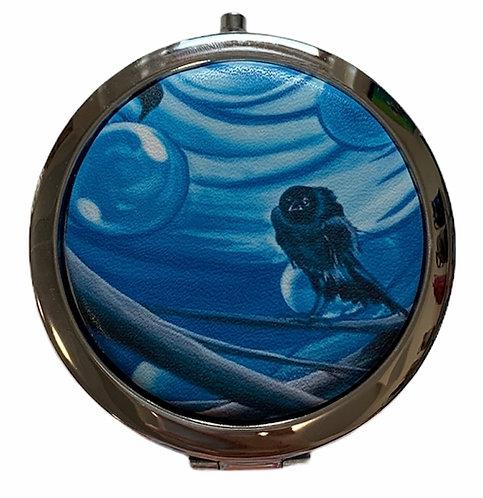 Crow Compact Mirror - Karen Savage Blue
