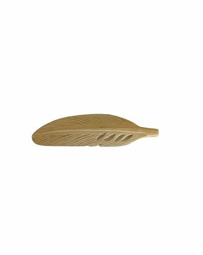 55BN325-T: Bone Feather Tan 15x55mm Average 1 Piece
