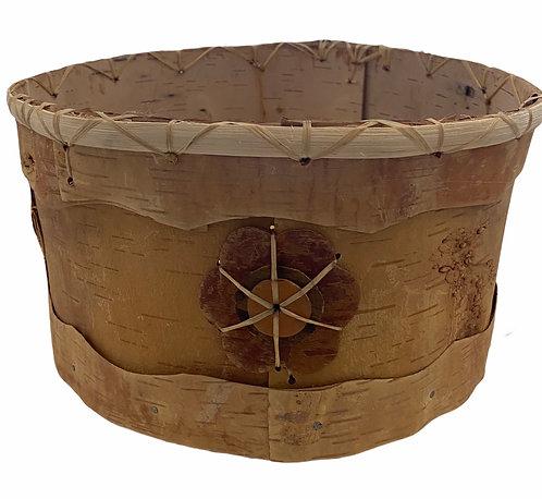 Floral Birchbark Basket