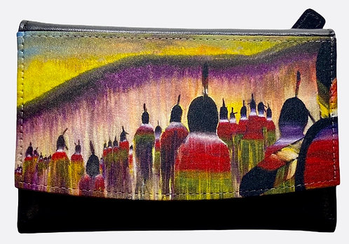 "Leather Wallet ""Gathering of Sisters"""