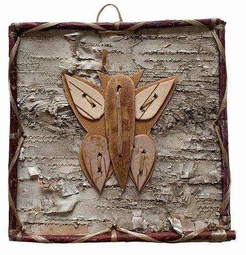 Butterfly Birchbark Painting