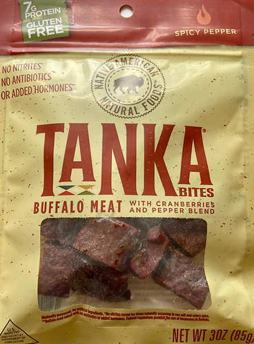 Tanka Buffalo Bites with Cranberries and Pepper Blend