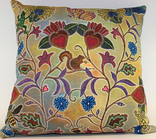 Hearts Floral Pillow