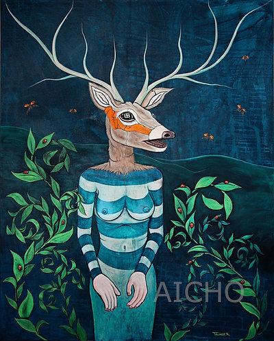Deer Woman Gets a Manicure - Jonathan Thunder
