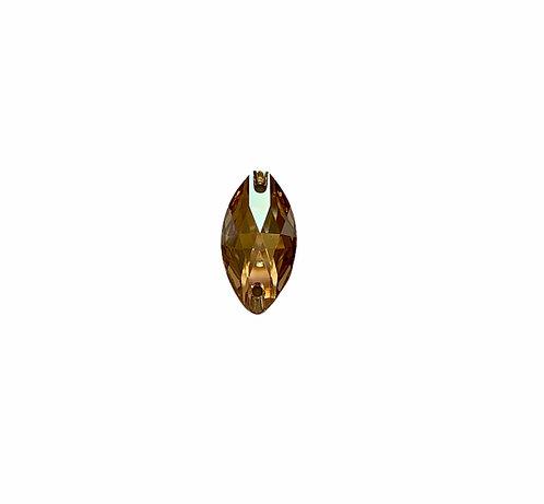 61CT351-14: SWAROVSKI FLAT BACK SEW ON OVAL GOLD SHADOW 14.5X29MM - 1 PIECE