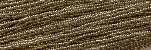 11SB3852-SR: CZECH SEED BEAD METALLIC LIGHT GOLD LINED CRYSTAL LUSTER 11/0