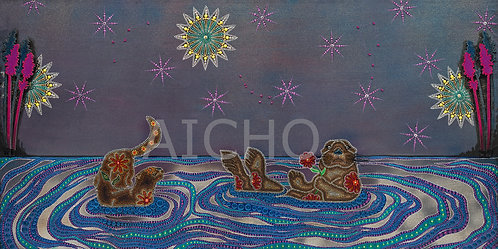 Otters Under the Duluth Sky - Leah Yellowbird