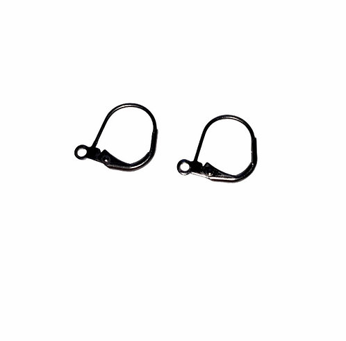 FI535-SU3: EARRING LEVER BACK SURGICAL STEEL 3 PAIRS 3 PAIRS