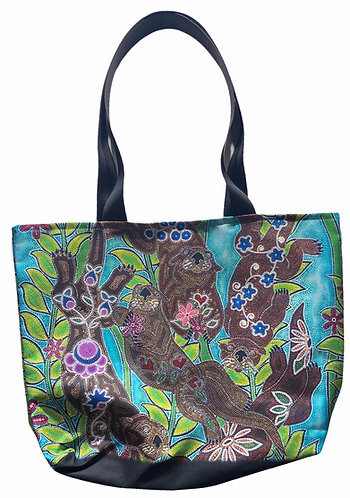 """""""Otters"""" tote bag by Leah Yellowbird"""