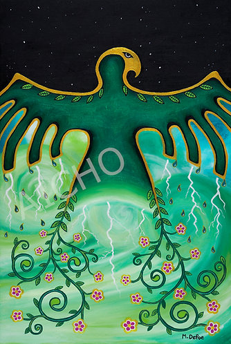 "Ziigwan Binesi - ""Spring Thunderbird"" - Michelle Defoe"