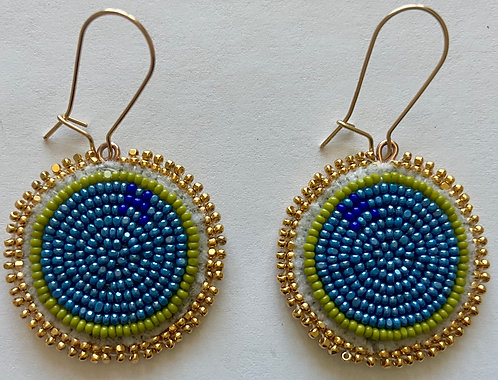 Earrings 15 - Golden Circles of Unity
