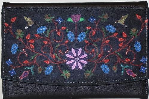 """Wallet """"Black Floral"""""""
