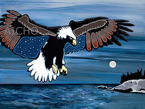 Migizi Flight over Three Sisters Point - Samuel J. Zimmerman
