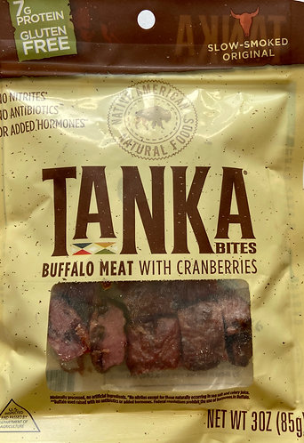 Tanka Bites Buffalo Meat with Cranberries
