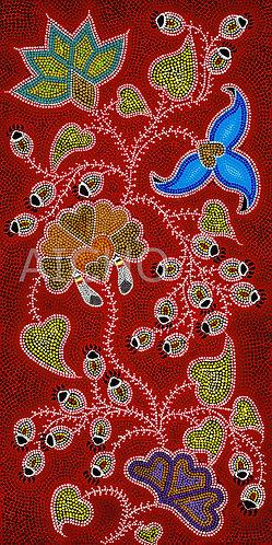 Red Floral - Leah Yellowbird