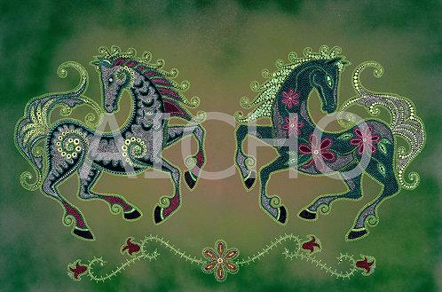 Green Horses - Leah Yellowbird
