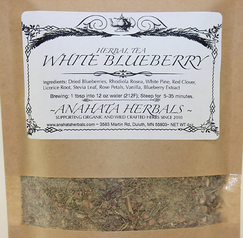 White Blueberry Herbal Tea