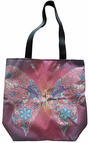 Butterfly East/West Tote Bag - LeahYellowbird