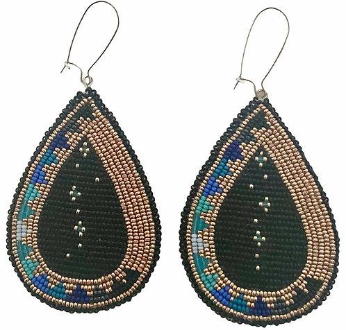 Earrings 18 - Sky Blue Golden Star Gazers