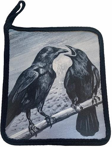 Crows Karen Savage Blue - Hot Pad/Pot Holder