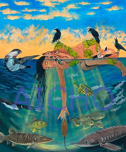 Creation Story - Karen Savage Blue