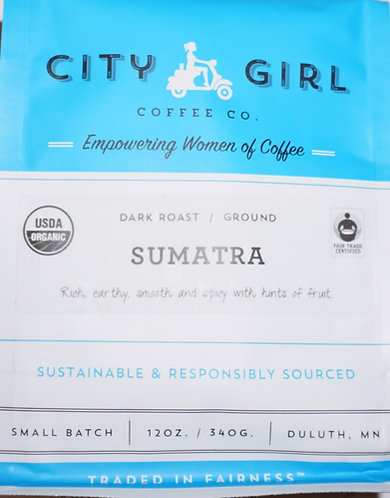 Dark Roast City Girl Coffee Sumatra