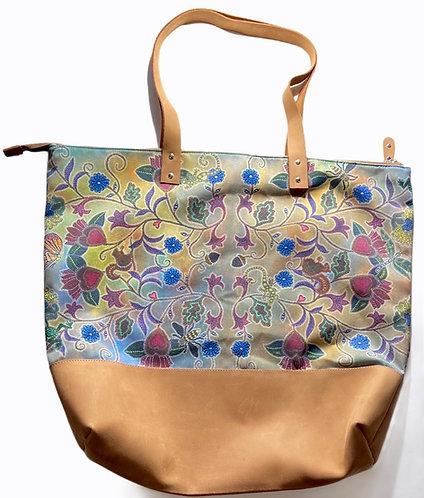 Leather Leah Yellowbird tote bag