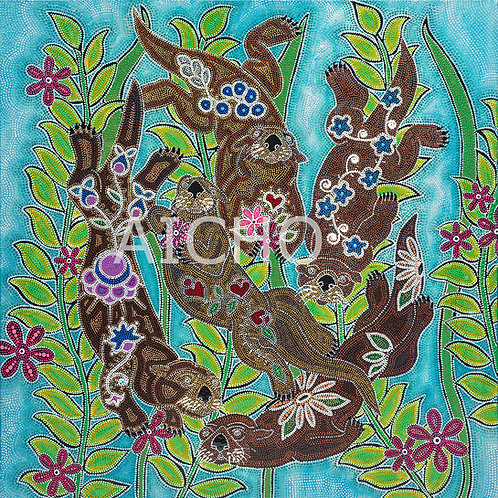Otters - Leah Yellowbird