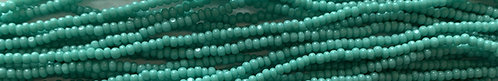 13SB185-CR: CZECH SEED BEAD CHARLOTTE CUT OPAQUE TURQUOISE GREEN 13/0