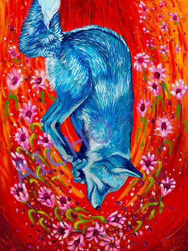 "Waagosh ""Fox"" - Karen Savage Blue"