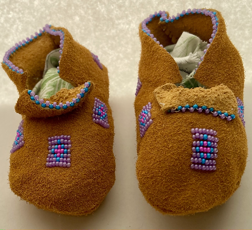 Purple Baby Moccasins