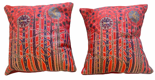 All my Relations Pair of (small) Pillows - Leah Yellowbird