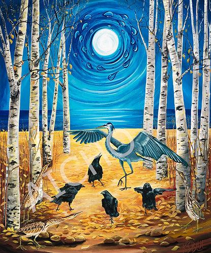 Ravens Dance the Traveling Song - Karen Savage Blue