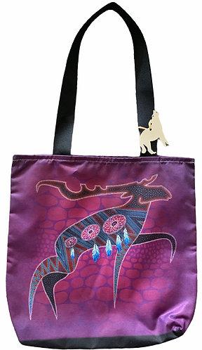 Moose East/West Tote Bag - Leah Yellowbird
