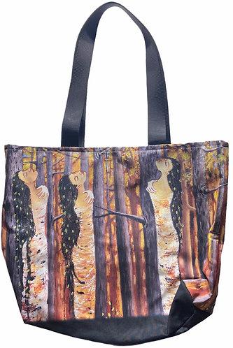 """Birch Bark Women"" Tote bag by Karen Savage Blue"