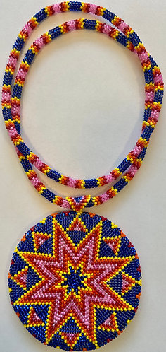 Pink (multi colored) Star Medallion